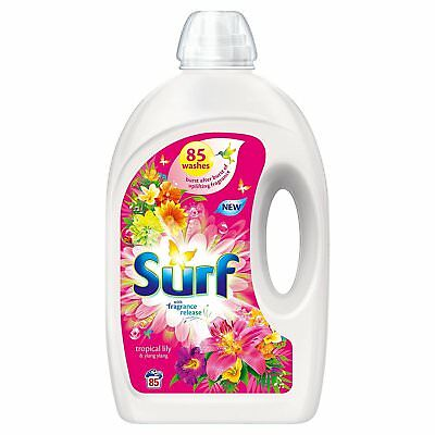 Surf 85 Washes Tropical Lily & Ylang Ylang Washing Liquid Detergent, 3L