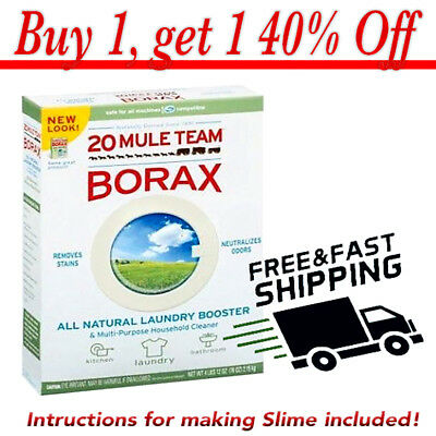 BORAX Pure Sodium Tetraborate Decahydrate. Slime activator 200g. NOW 40% OFF!