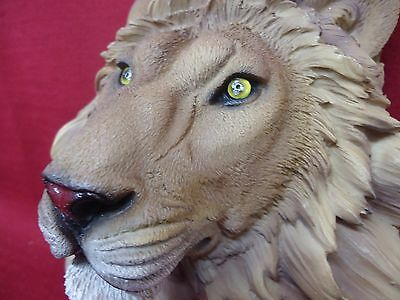 Lion Head Wall Art Sculpture Bust Decor Safari Wild Tall Hang on Wall