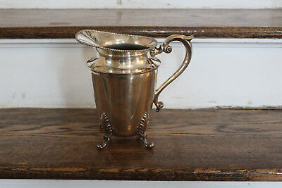 HS Silver Company Antique Vintage Silver on Copper Water Pitcher - HEAVY
