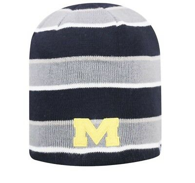 Top of the World Michigan Wolverines Knit Toboggan Reversible Beanie Adult 733677e0d7ab