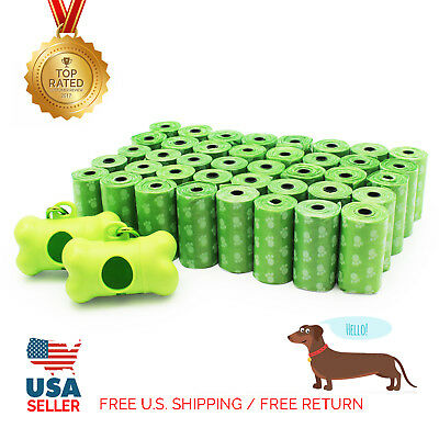 EcoJeannie 800-Count (40 Rolls) Dog Poop Bags With Two Dispensers