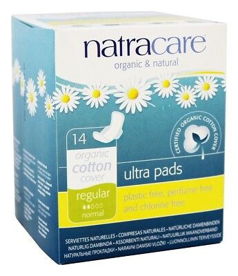 Natracare - Cotton Natural Feminine Ultra Pads Regular with Wings - 14 Pad(s)