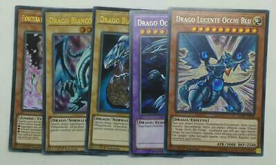 Set 3X  DRAGO BIANCO OCCHI BLU  LCKC-IT001 B Ultra Rara in Italiano YUGIOH