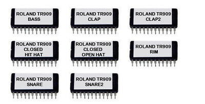Roland Tr909 Tr-909 Sound Eproms For Oberheim Dx Vintage Drum Machine