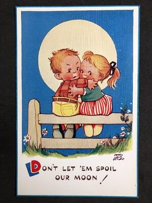 Vintage Postcard: Artist Signed: Mabel Lucie Attwell #A524: Our Moon! 5921