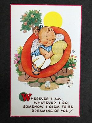 Vintage Postcard: Artist Signed: Mabel Lucie Attwell #A526: Dreaming Of You 6143