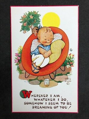 Vintage Postcard: Artist Signed: Mabel Lucie Attwell #A527: Dreaming Of You 6143