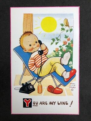 Vintage Postcard: Artist Signed: Mabel Lucie Attwell #A528: You Are My Line 6244