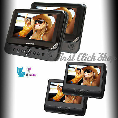 Headrest TV Car DVD Player Seat Portable CD Dual Your Backseat Vehicle Movie TFT