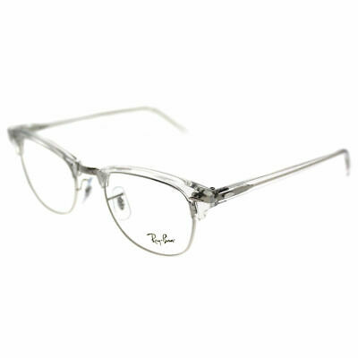 Ray-Ban Clubmaster RX 5154 2001 White Transparent Clubmaster Eyeglasses 49mm