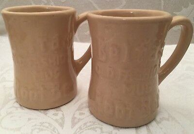 Vintage Belfast Old Fashioned Mug Root Beer Tepco USA China Set Lot Of 2 Cups 4""