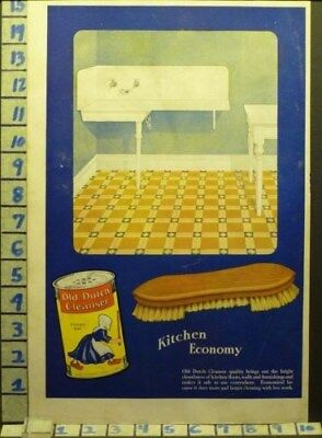 1919 Old Dutch Cleanser Kitchen Clean Sink Soap Detergent Vintage Ad  Ah63