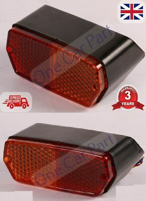 PAIR Fiat 1000,1300,450, 480,500,540,550,600 Tractor Rear Lights Lamp Left+Right