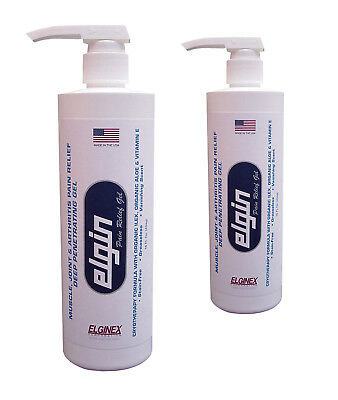 2-EACH  Elgin Professional Pain Relief Gel - 16 oz. Pump Bottles