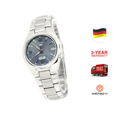 Seiko 5 Automatic Mens  Business Silver Band SNK621K1