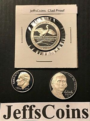 2018 S Dime Nickel Quarter Cumberland 3x Clad Proof Set Coins 5¢10¢ 25¢ Lot PR