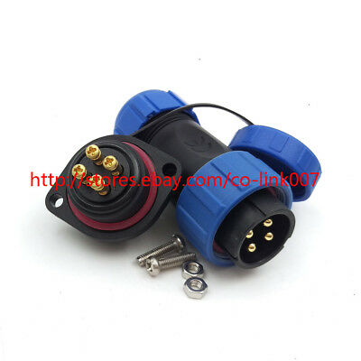 IP67 Welding Free 4pin Connector Industrial Plug Socket 30A Aviation Connector