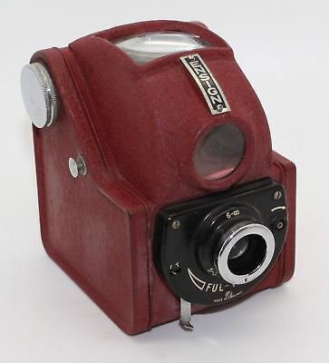 """Ensign Ful-Vue """"a la mode"""" QE2 Coronation Red 120 Film Camera with case c.1953"""