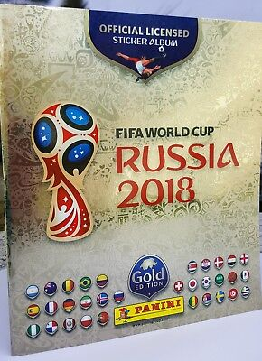 PANINI Russia 2018 FIFA World Cup GOLD Album - Gold Edition