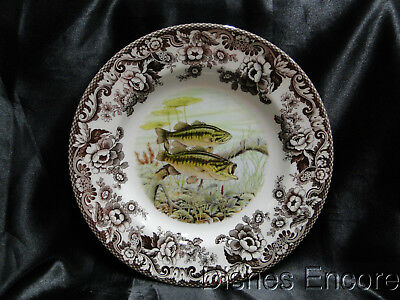 "Spode Woodland North American Fish Largemouth Bass: Dinner Plate 10 3/4"" NEW Box"