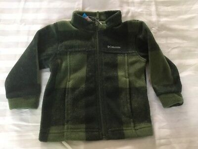 cff34cdfa50f COLUMBIA BABY BOYS Zing III Buffalo Plaid Fleece Jacket Green 12-18 ...