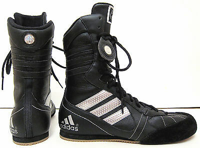 NEW 6.5 38 Men 5.5 Adidas XOB 03 Boxing Black Leather Shoes Boots High Tops Rare