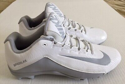 Nike Speedlax 5 Womens Lacrosse Cleats Size 11.5 White Gray NEW 807158-100 NWT