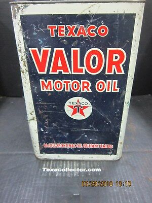 Texaco Canada Valor Oil 2 Imperial Gallon Can #3