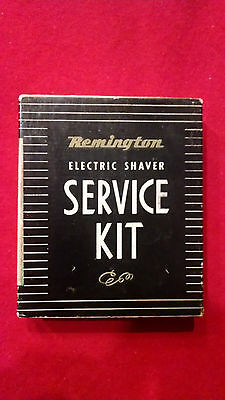 Remington Men's Electric Shaver Service Kit Sperry Rand Oil Brush Pick Vintage.