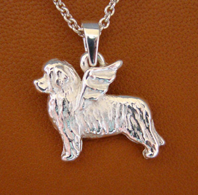 Small Sterling Silver Newfoundland Angel Pendant