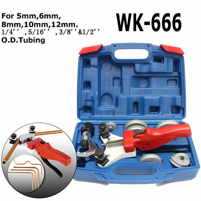 WK-666 Multi Copper Pipe Bender W/Tube Cutter Copper Machine Hand Tool Kit Alloy