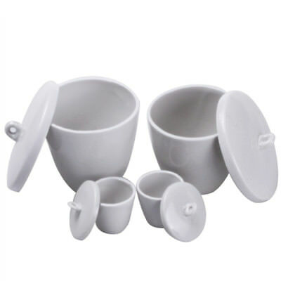 1pcs Lab Porcelain Crucible with cover 5-300ML High temperature resistant