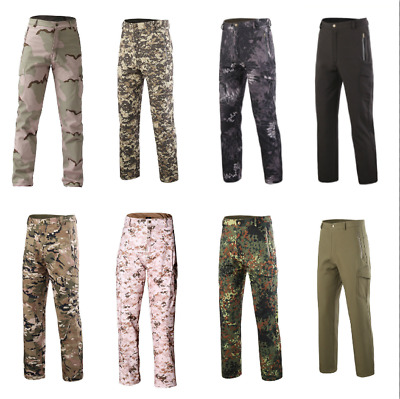 Tactical Military Army Combat Trouser Men Security Airsoft Work Cargo Pants Camo