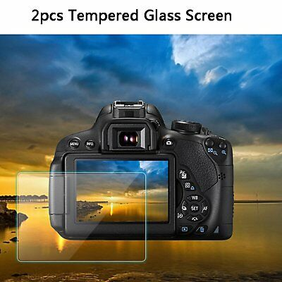 2X Clear LCD Tempered Glass Screen Protector Guard for Sony A7M3 A7R3 a7RIII A73