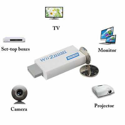 1080p Wii to HDMI Converter Mini 3.5mm Wii2HDMI Adapter Audio HD Video Output