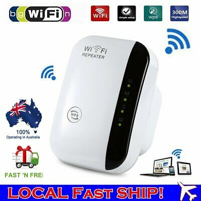 300Mbps WiFi Extender Repeater AU Plug Wireless Router Range Signal Booster OZ