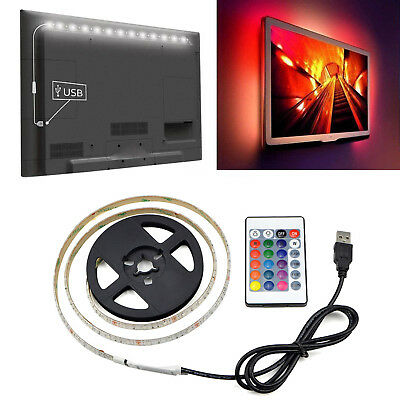 0.5/1/2/3/4/5M USB LED Strip Light RGB 2835 TV Back Lamp Colour Changing +Remote