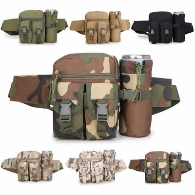 Men Women Waist Bag Outdoor Nylon Waterproof Tactical Canvas Fanny Pack Portable