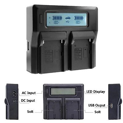 Dual Double Digital LCD Quick Charger for SONY NP-FZ100 ILCE-9 A7RIII A9 Battery