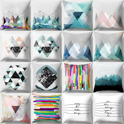 NEW Creation Boho Geometric Pillow Case Waist Cushion Cover Sofa Car Home Decor