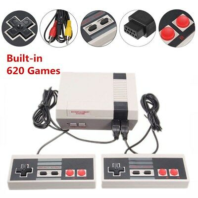 @Mini Vintage Retro TV Game Console Classic 620 Built-in Games With 2 Controller