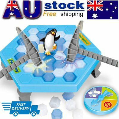 Save the Penguin on Ice Game Break Ice Block Hammer Penguin Trap Kids Party Toy