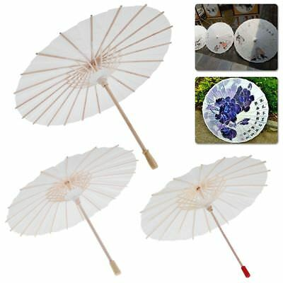 White Blank Chinese Retro Paper Umbrella Parasol Kid Painting DIY Toy Gift IT