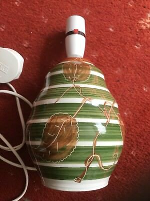 Vintage Made in Wales Rhayader Dragon Dee Cee Pottery Table Lamp