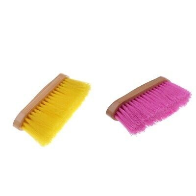Horse Grooming Brush Dust Dirt Removing Tool with Wood Grip for Equestrian