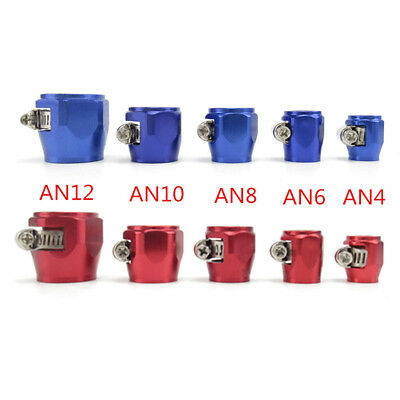 AN4-AN12 Fuel Hose Line End Cover Clamp Finisher Fitting Hose Connectors