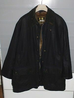 barbour border jacket + inner  pile waxed cotton blue + pin c46/177 CM xl