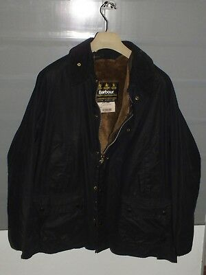 barbour bedale jacket waxed cotton  blue  + inner pile  c46/117 XL