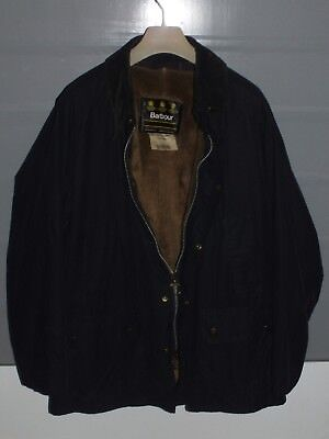 barbour bedale jacket waxed cotton giacca  blue  + inner pile + pin  c46/117 XL